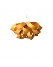Lampa wisząca drewniana Agatha Small żółta LZF