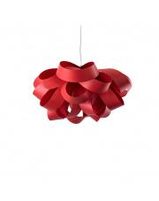 Lampa wisząca drewniana Agatha Small czerwona LZF