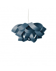 Lampa wisząca drewniana Agatha Small niebieska LZF