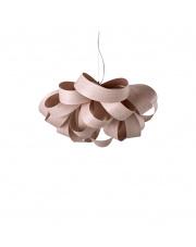 Lampa wisząca drewniana Agatha Small jasnoróżowa LZF