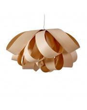 Lampa wisząca drewniana Agatha Large piaskowa LZF