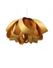 Lampa wisząca drewniana Agatha Large żółta LZF