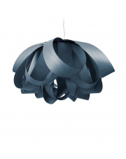 Lampa wisząca drewniana Agatha Large niebieska LZF