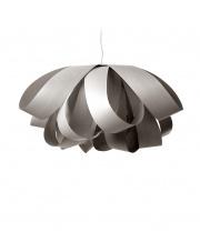 Lampa wisząca drewniana Agatha Large szara LZF