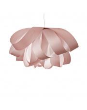 Lampa wisząca drewniana Agatha Large jasnoróżowa LZF