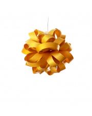 Lampa wisząca drewniana Agatha Ball żółta LZF