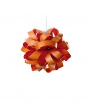 Lampa wisząca drewniana Agatha Ball pomarańczowa LZF