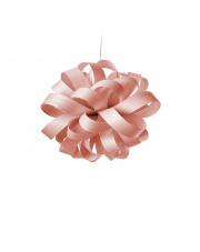Lampa wisząca drewniana Agatha Ball jasnoróżowa LZF