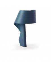 Lampa biurkowa drewniana Air niebieska LZF