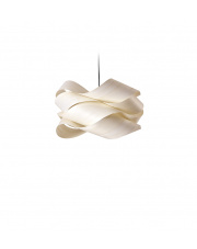 Lampa wisząca drewniana Link Small biała LZF