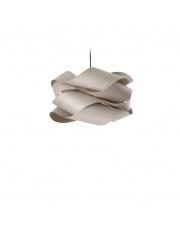 Lampa wisząca drewniana Link Small szara LZF