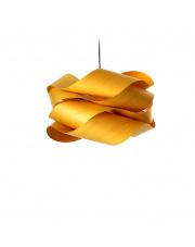 Lampa wisząca drewniana Link Large żółta LZF