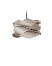 Lampa wisząca drewniana Link Large szara LZF