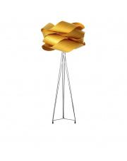 Lampa podłogowa drewniana Link żółta LZF