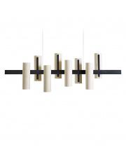 Lampa wisząca drewniana Black Note Keys biała LZF