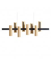 Lampa wisząca drewniana Black Note Keys buk LZF