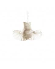 Lampa wisząca drewniana Minimikado biała LZF