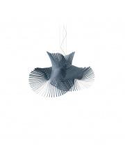 Lampa wisząca drewniana Minimikado niebieska LZF