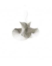 Lampa wisząca drewniana Minimikado szara LZF
