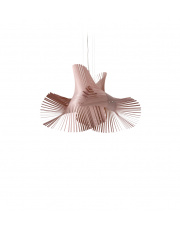 Lampa wisząca drewniana Minimikado jasnoróżowym LZF
