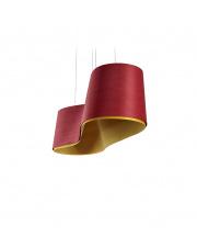 Lampa wisząca drewniana New Wave czerwona LZF