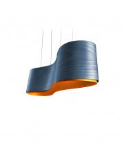 Lampa wisząca drewniana New Wave niebieska LZF