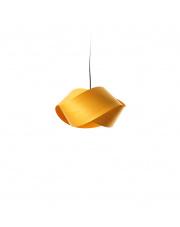 Lampa wisząca drewniana Nut żółta LZF