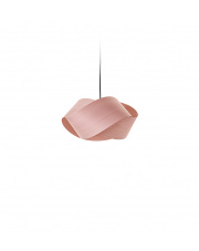 Lampa wisząca drewniana Nut jasnoróżowa LZF