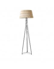 Lampa podłogowa drewniana Lola biała LZF