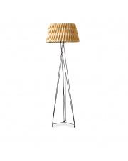 Lampa podłogowa drewniana Lola buk LZF