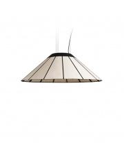 Lampa wisząca drewniana Banga Medium 90 cm biała LZF