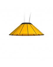 Lampa wisząca drewniana Banga Medium 90 cm żółta LZF