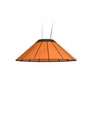 Lampa wisząca drewniana Banga Medium 90 cm pomarańczowa LZF