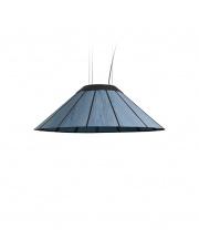 Lampa wisząca drewniana Banga Medium 90 cm niebieska LZF