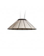 Lampa wisząca drewniana Banga Medium 90 cm szara LZF