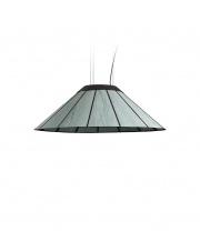 Lampa wisząca drewniana Banga Medium 90 cm turkusowa LZF
