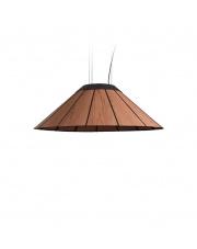 Lampa wisząca drewniana Banga Medium 90 cm jasnoróżowa LZF