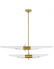 Lampa wisząca APOLLO 2 biała - szczotkowane złoto King Home