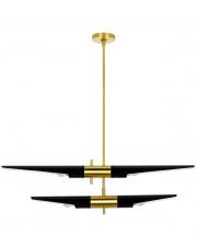 Lampa wisząca APOLLO 2 czarna - szczotkowane złoto King Home