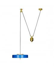 Lampa wisząca ARTE MOVE niebieska - aluminium, metal King Home