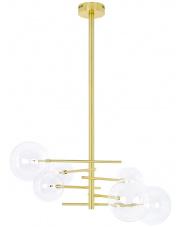 Lampa wisząca ASTRO złota - aluminium, szkło King Home