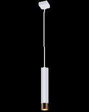 Lampa wisząca Eido biała/złota Amplex