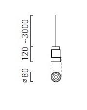 Lampa wisząca Telescope B Z Chors