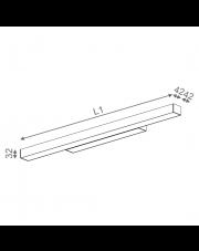 Kinkiet Set Raw Mini Led Hermetic 101 cm 20215 Aqform