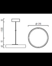 Lampa wisząca kompletna Myco One Z 300 Chors
