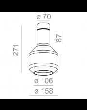 Plafon Modern Glass Barrel GU10 SP 40445 Aqform